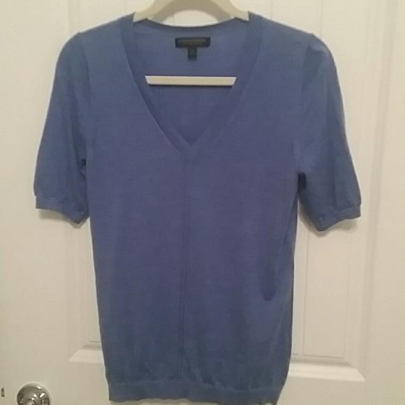 Banana Republic Sweaters - BANANA REPUBLIC Light Blue 100% Merino Wool